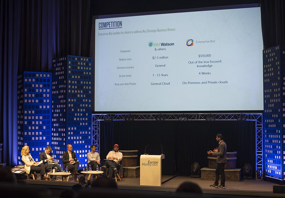 Startup pitches at Money20/20 Europe