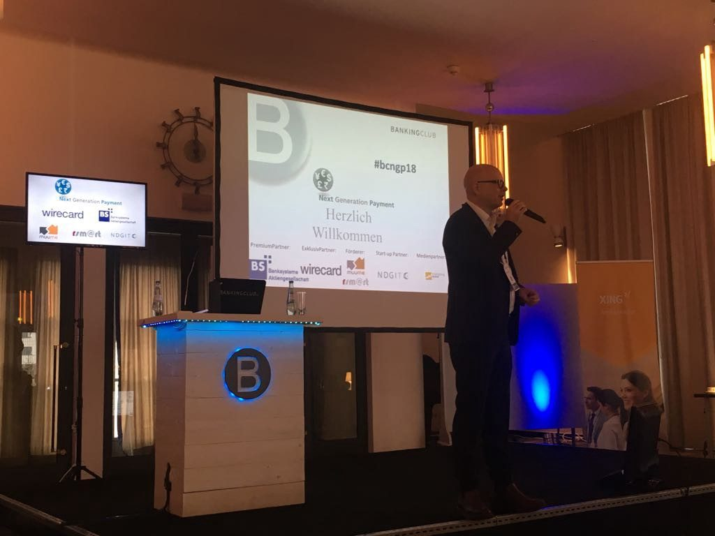 Thorsten Hahn, CEO of Bankingclub GmBH, opened the conference.