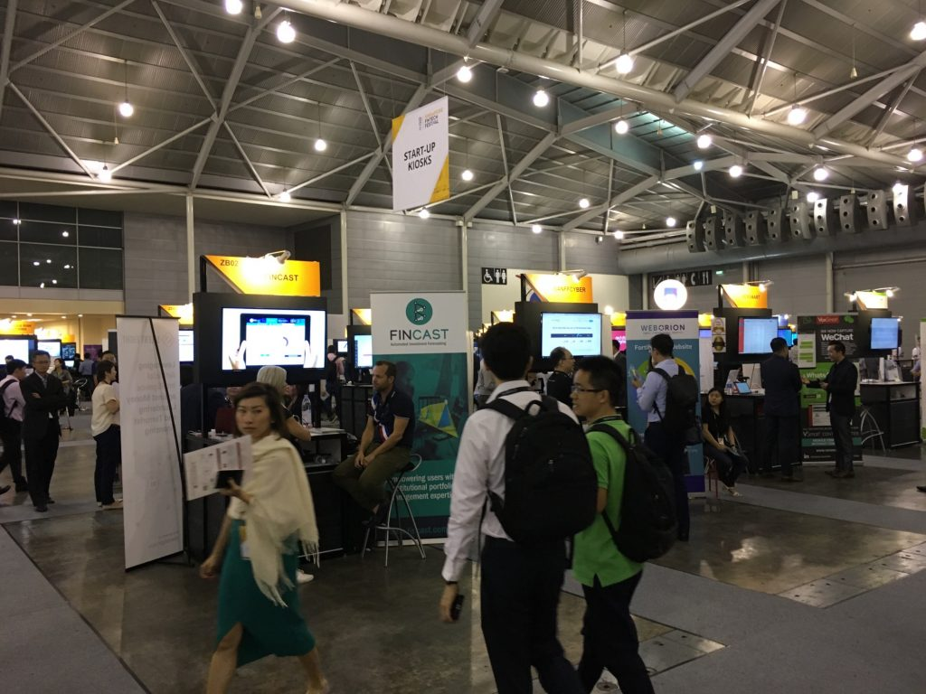 Small booths, big ideas — the Singapore Fintech Festival did not sideline its startups.