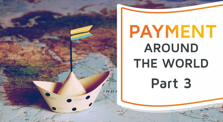 A world map with a paper ship, symbolizing the world of payment.
