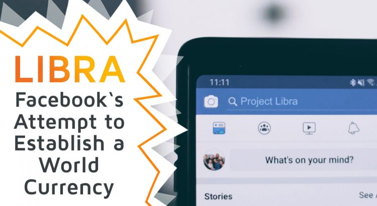 A cell phone showing the facebook app UI, in which the term Project Libra is searched for