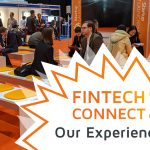 A picture of a waiting area at the FinTech Connect 2019 conference in London